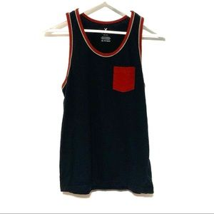American Eagle tank top blue red XS